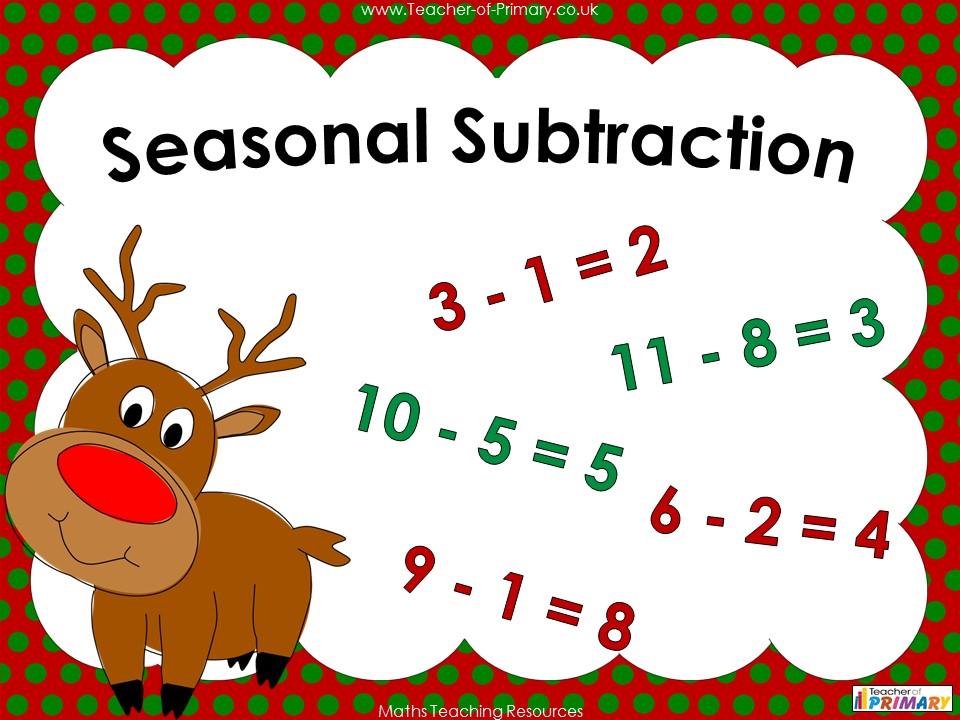 Seasonal Subtraction - Year 1