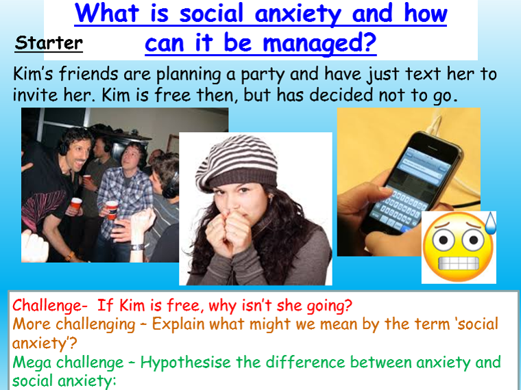 Mental Health - Social Anxiety