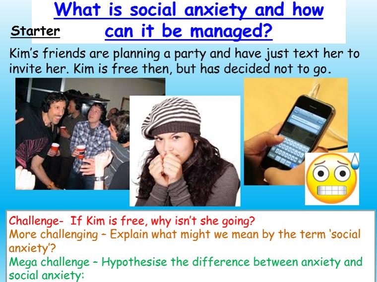 Mental Health - Social Anxiety