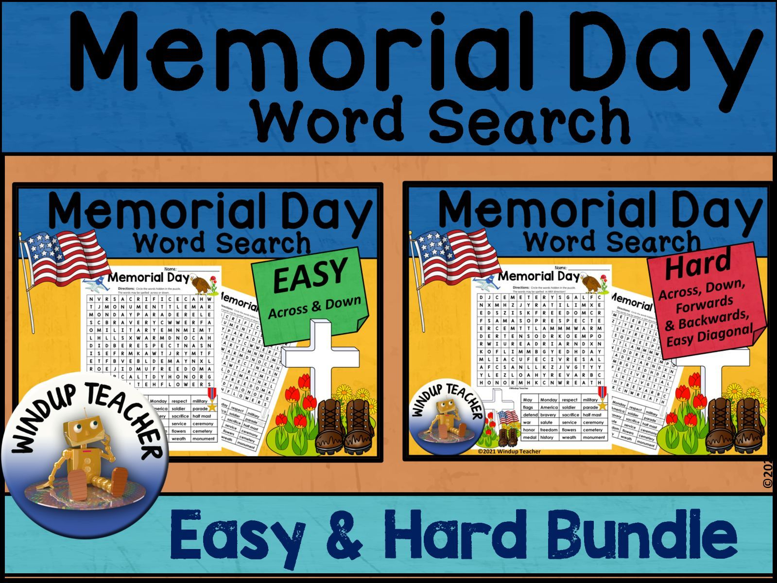 Memorial Day Word Search BUNDLE