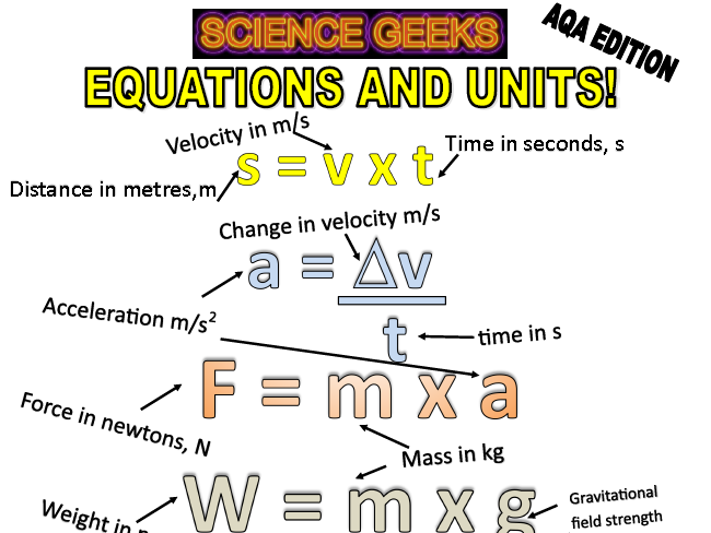 GCSE PHYSICS EQUATIONS OF DOOOOOM - AQA EDITION!