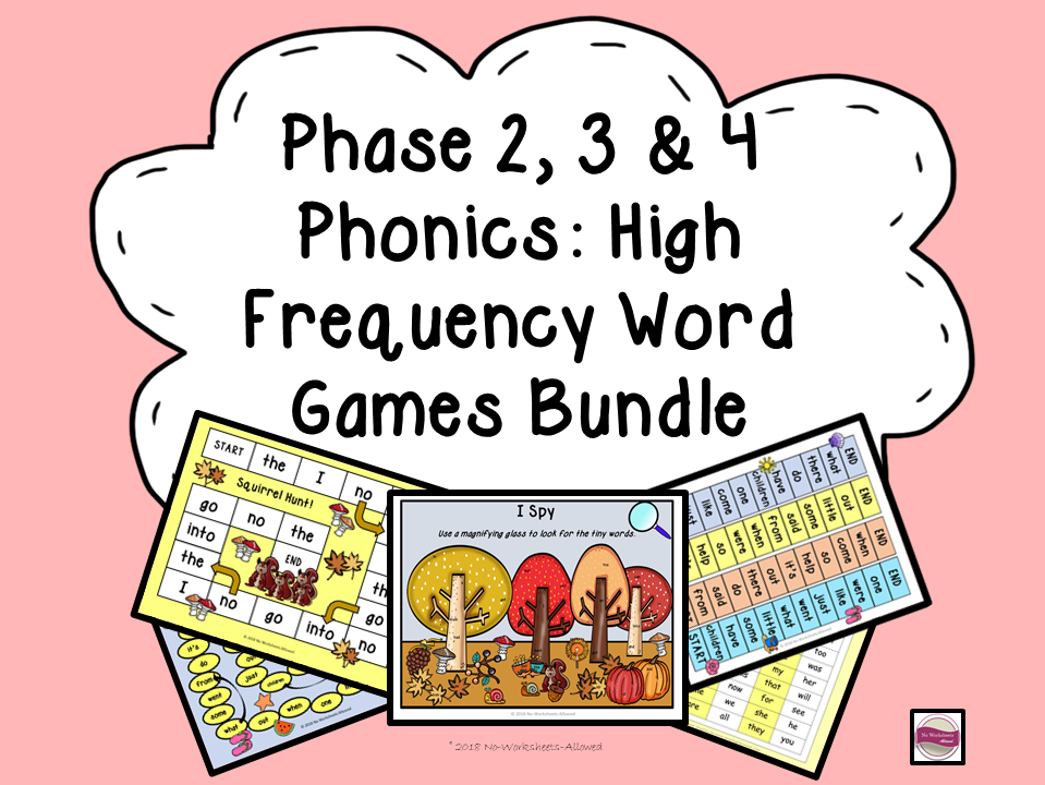 Phase 2, 3 & 4 High Frequency Word Games/Activities