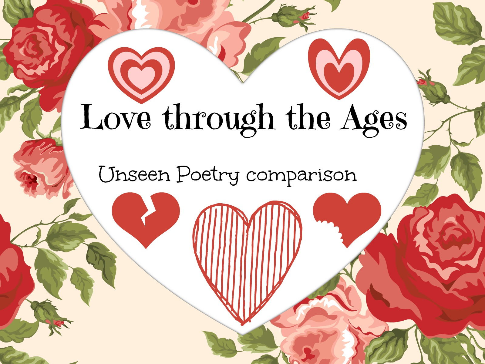 Unseen poetry comparison: the full works- AQA Love through the Ages