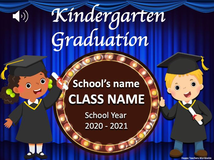 Kindergarten Graduation Ceremony Powerpoint Slideshow