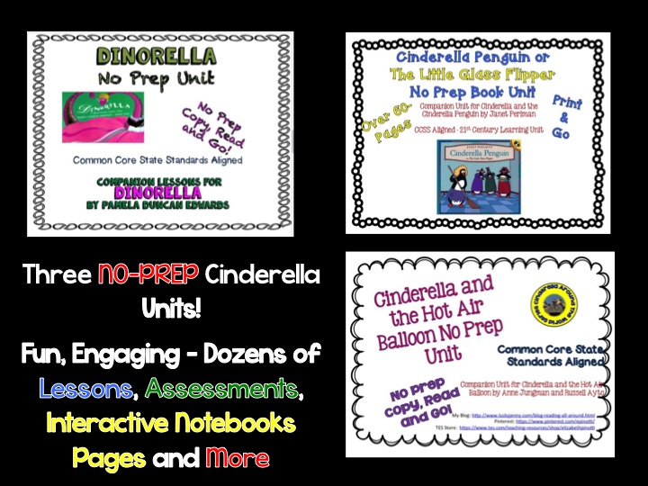 Three Fun Cinderella No-Prep Book Unit
