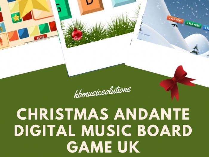 Christmas Andante Digital Interactive Board Game UK Version