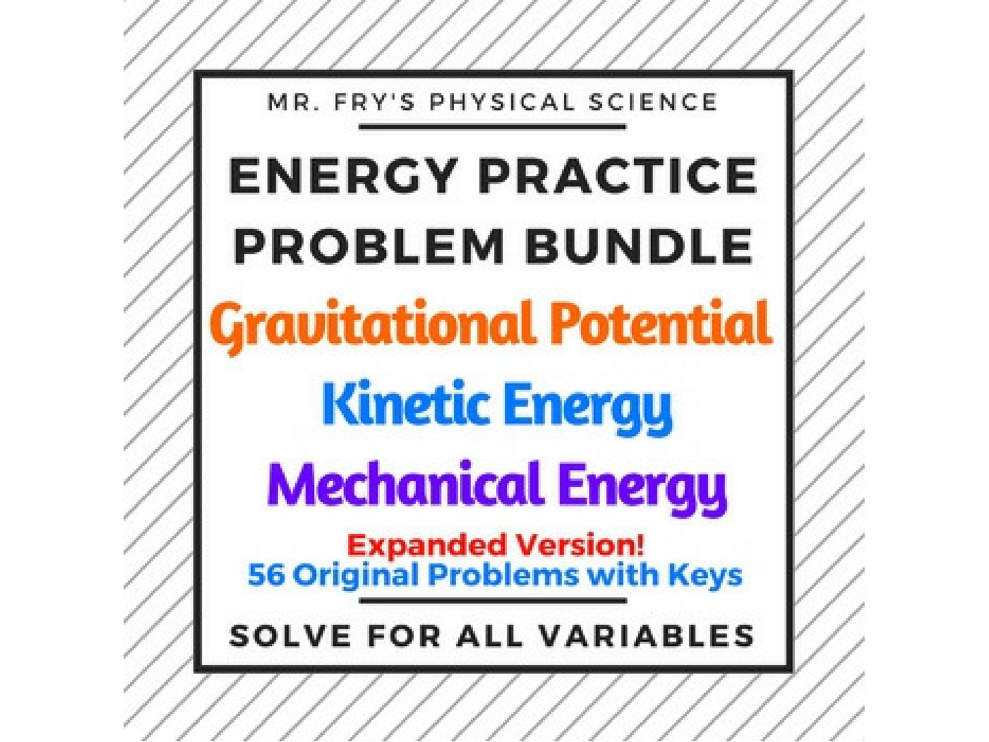 Energy Practice Problem Bundle
