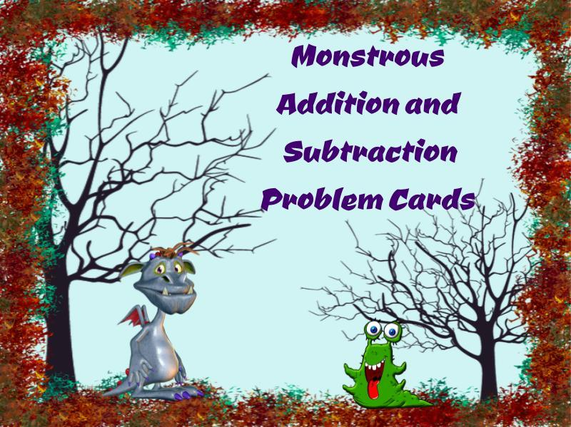 Monstrous Word Problem Cards (Halloween Suited)