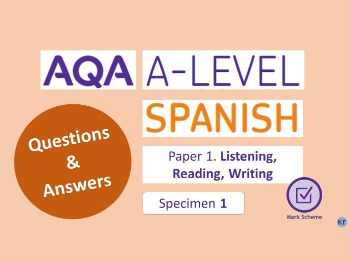 A-Level Paper 1: Specimen 1