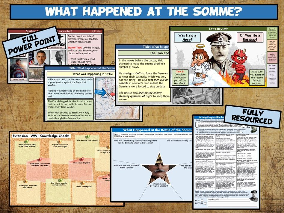 WW1 L9 - The Battle of the Somme - Success or Failure?