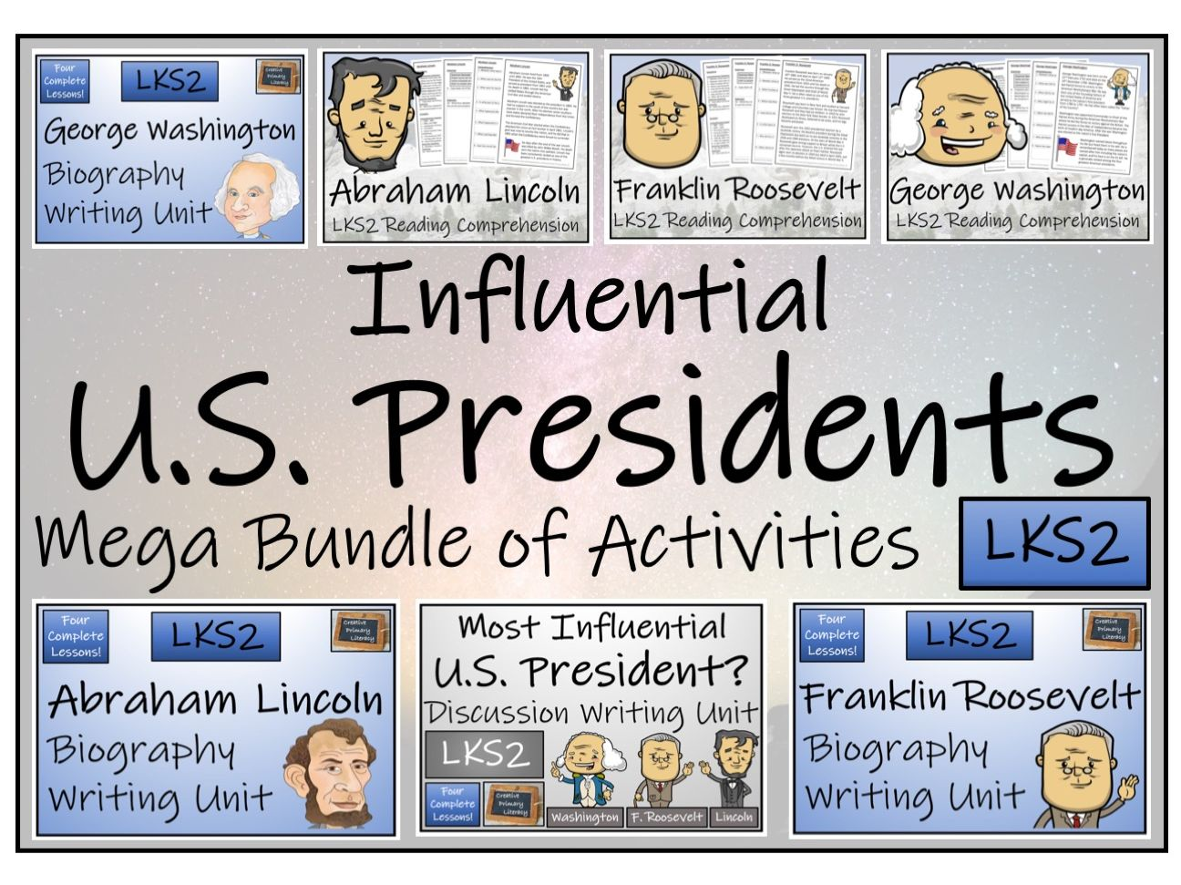 LKS2 History - Influential U.S. Presidents Reading Comprehension & Writing Bundle