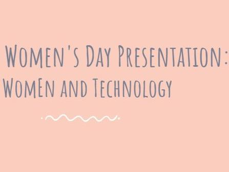 Special International Women's Day Presentation