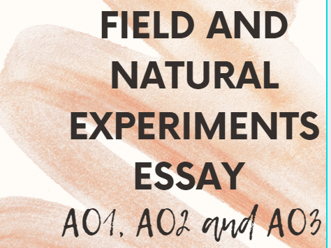 Field and natural experiments essay style