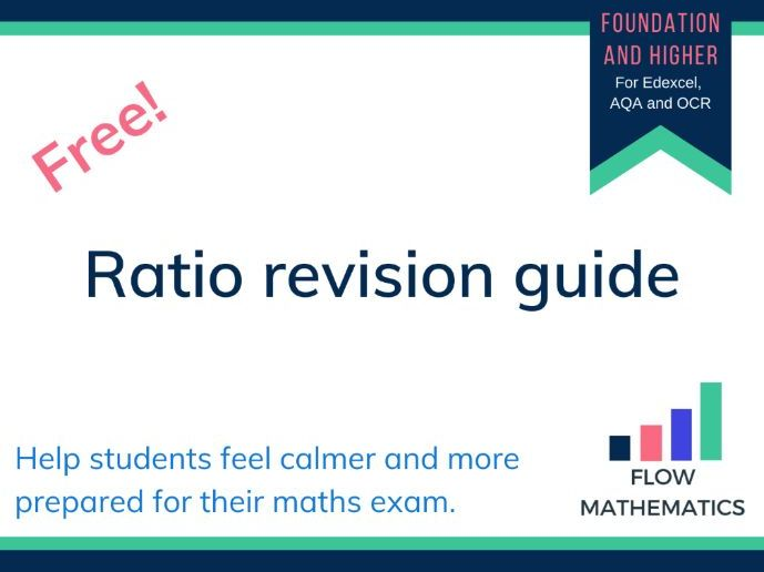 Ratio revision guide for GCSE