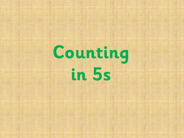 Counting in 5s
