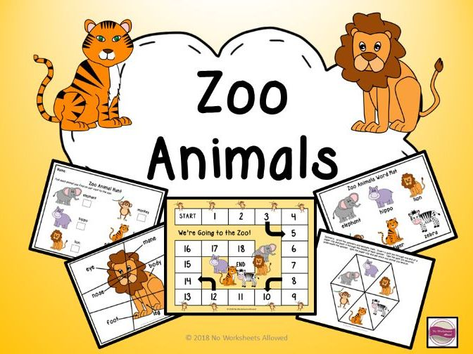 Zoo Animals - Activities, Games and Resources