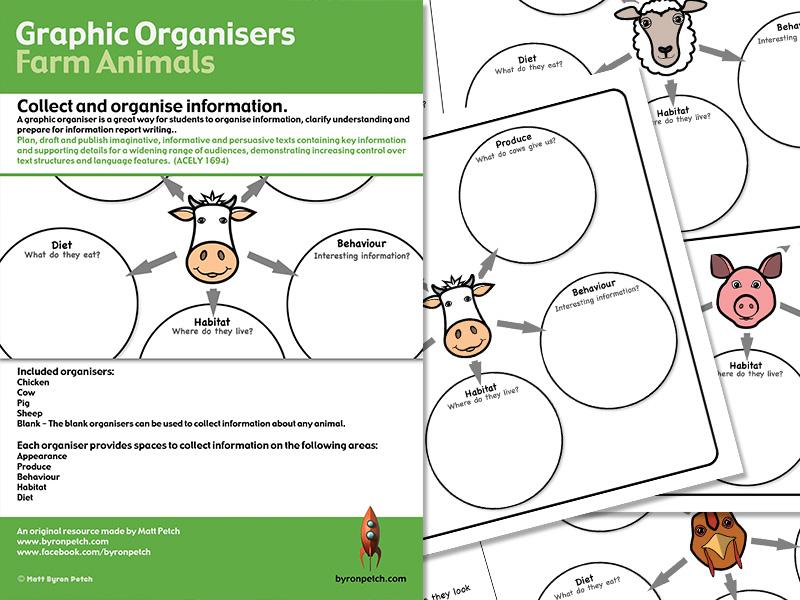 Graphic Organisers - Farm Animals