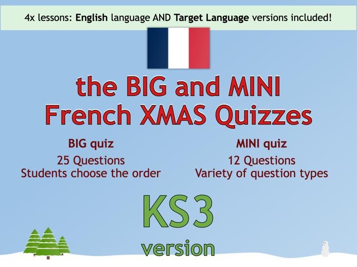 The BIG & MINI French Christmas Quiz (KS3 version)