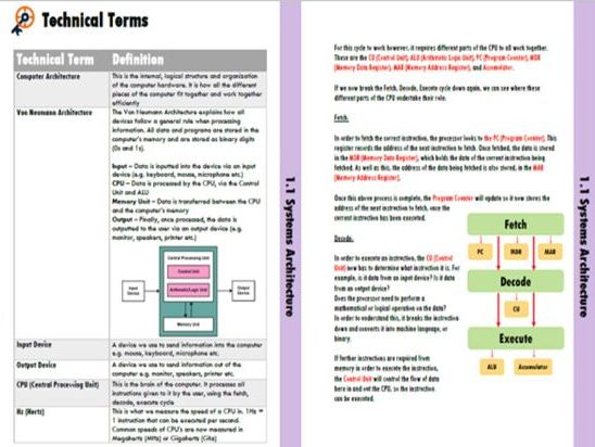 OCR GCSE Computer Science Revision Guides (Paper 1 and Paper 2) J277