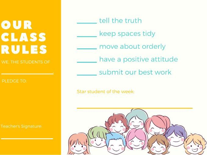 Class Rules & Star Student Chart