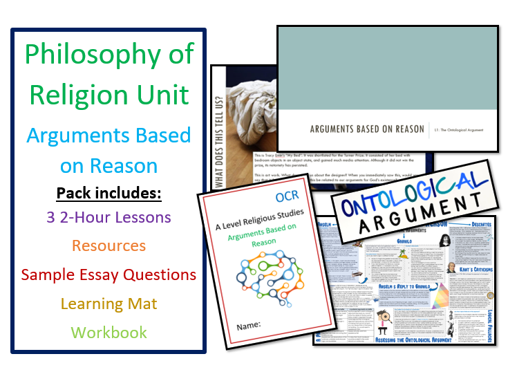 Philosophy of Religion: Arguments Based on Observation - Unit of 3 Lessons and Revision