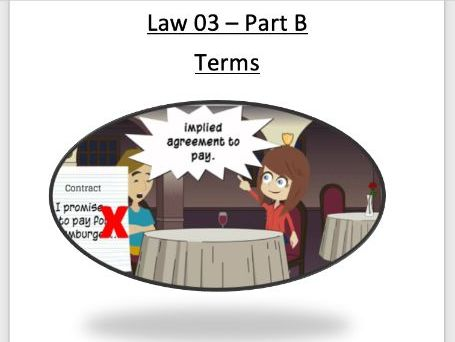 OCR CONTRACT LAW - Terms of a contract - Full booklet with content, evaluation and activities
