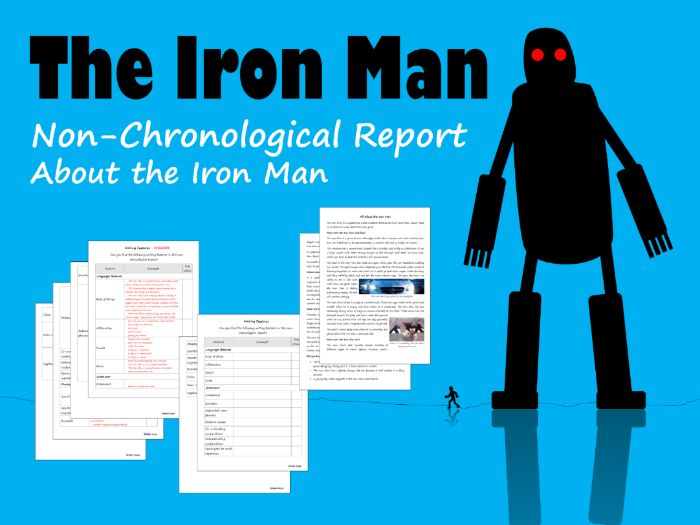The Iron Man Non-Chronological Report Example, Feature Identification & Answers