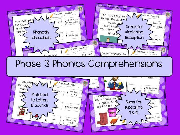 Phase 3 Phonics Comprehension Texts - 24 Texts