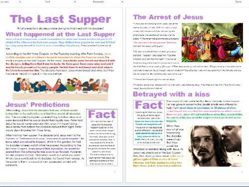Jesus in Jerusalem: The Last Supper: Differentiated Activity Sheets