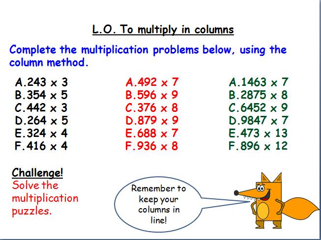 2 lessons on written multiplication methods (KS2)