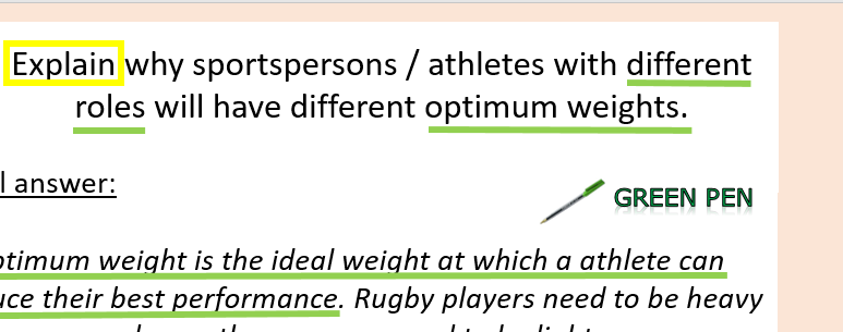 Edexcel GCSE PE - Exam question practice (whole lesson)