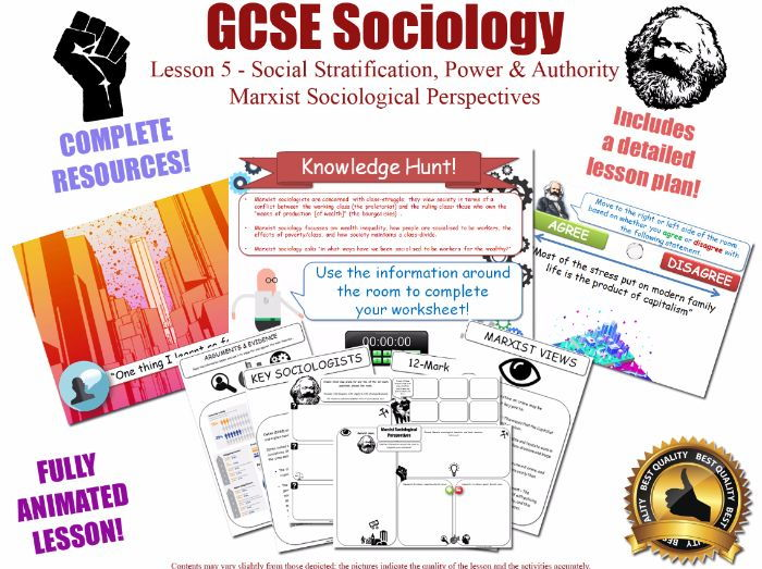 Marxist Perspectives - Social Stratification L5/20 [ AQA GCSE Sociology - 8192] Class Poverty Power