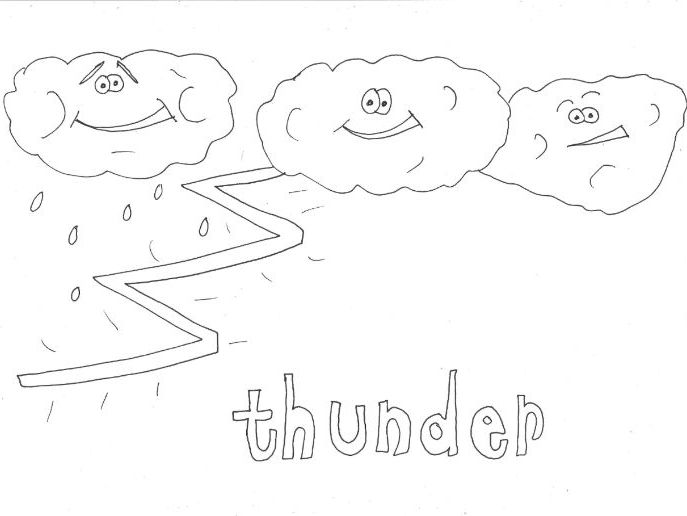 Thunder: WEATHER Colouring Page