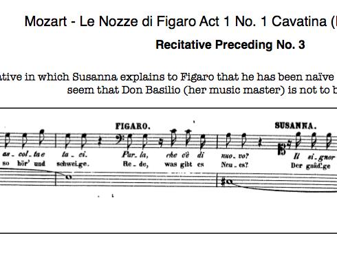 Mozart-Le Nozze di Figaro-No 3 - Cavatina Recit