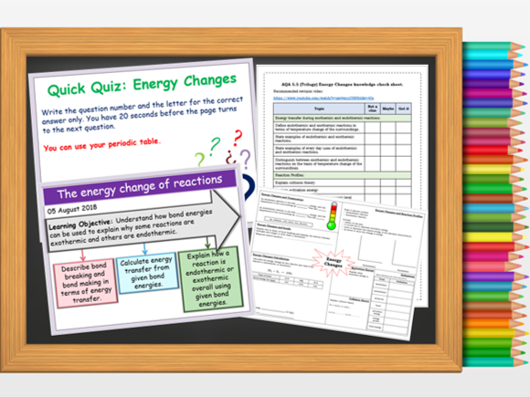 AQA Trilogy 5.5.1.3 The energy change of reactions (HT only)