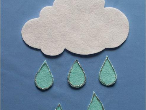 Five Little Raindrops Felt Board Set Digital Pattern