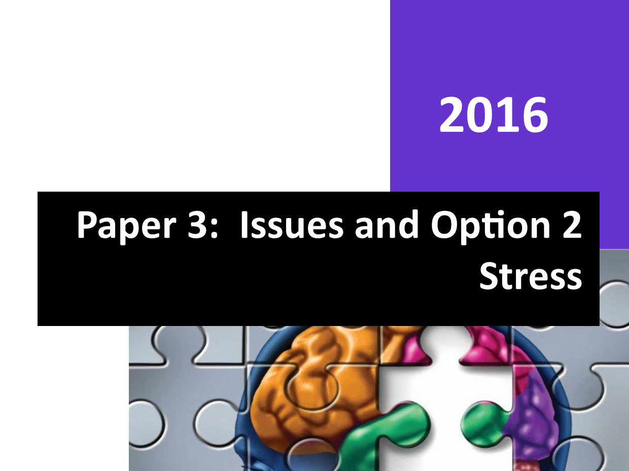 Paper 3 - STRESS - SPECIAL OFFER Workbook and PowerPoint's - Bundle