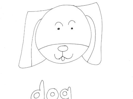 Dog (2): Animals and Pets: Colouring Page