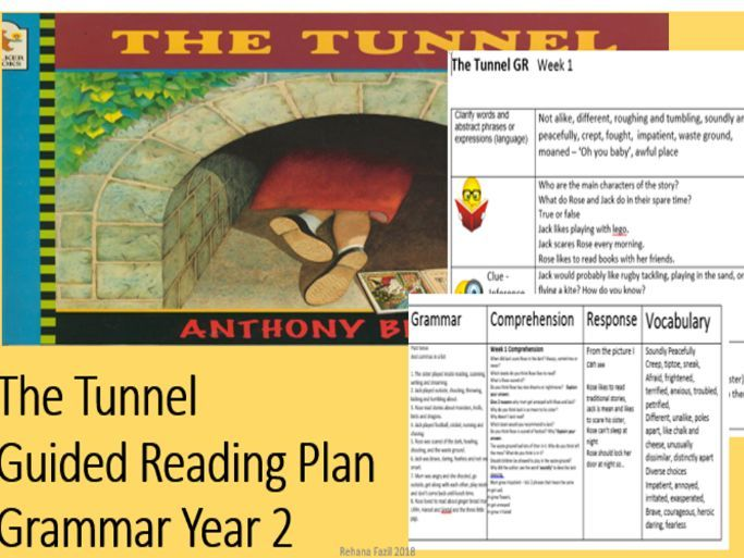 The Tunnel by Anthony  Browne Guided Reading Week 1