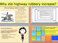 *FULL LESSONS* Why did Highway Robbery Disappear? Two Lessons KS3 or GCSE Crime and Punishment