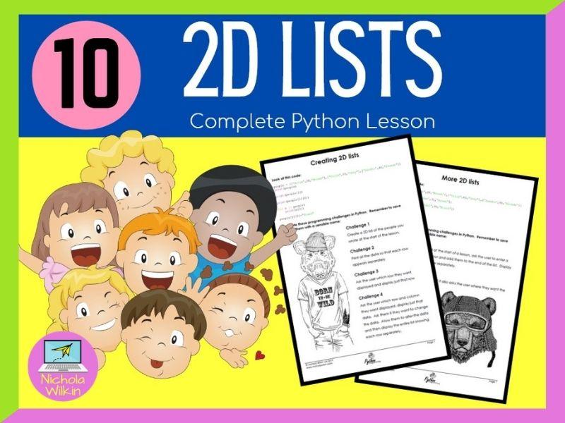 Python 2D Lists Lesson