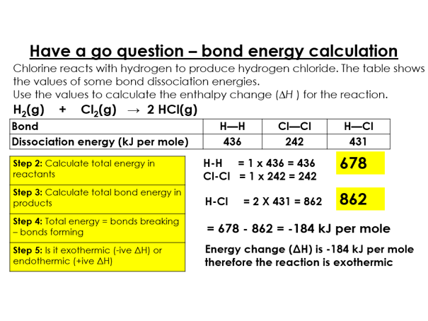 AQA 9-1 Topic 5 - exothermic and endothermic reactions and bond energy calculations