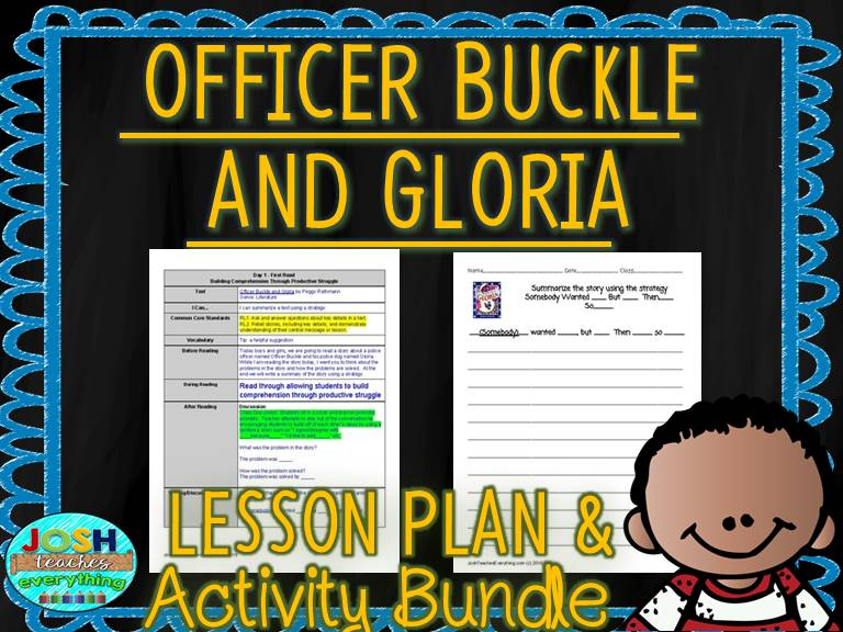 Officer Buckle and Gloria by Peggy Rathmann Lesson Plan and Activities