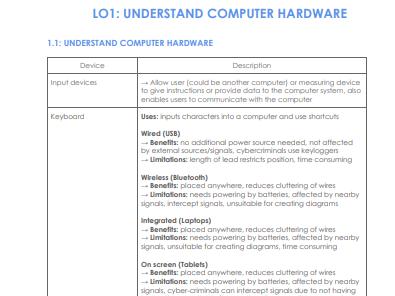 CTECH: Unit 1 - Fundamentals of IT Notes