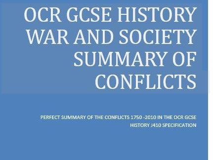 OCR GCSE HISTORY WAR AND BRITISH SOCIETY 1750 - 2010