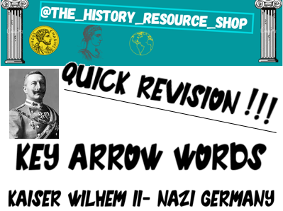 Kaiser, Weimar and Nazi Germany key word bookmarks