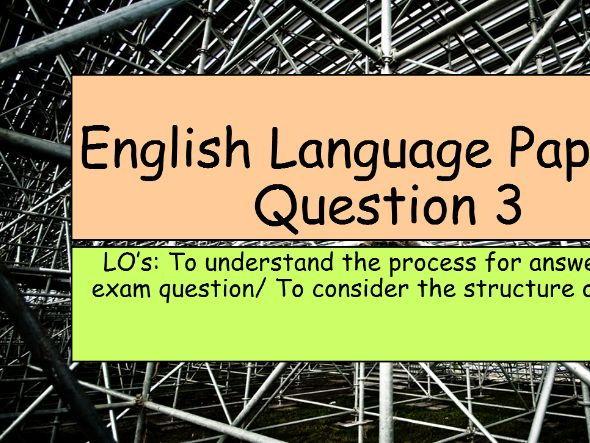 KS4 GCSE English Language Paper 1, Question 3