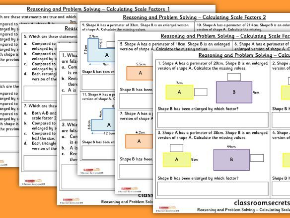 Year 6 Calculating Scale Factors Spring Block 6 Reasoning and Problem Solving Pack