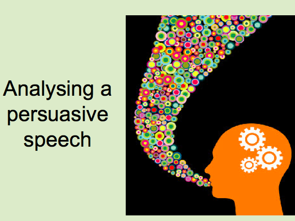 Analysing a persuasive speech - whole lesson P2 Q1 and Q3