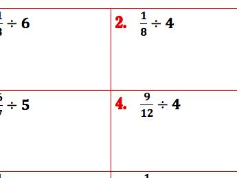 Divide Fractions- KFC it!